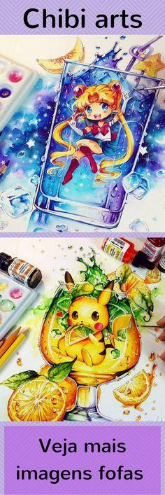 A artista alemã Nashi é responsável por diversas ilustrações no estilo chibi utilizando aquarela para retratar personagens geeks. Nashi fez ilustrações de Sailor Moon, Pikachu, Charmander, Squirtle, Bulbasauro, entre outros personagens