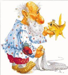 odd little man with goldfish