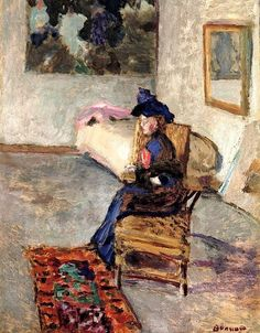 Woman with a Rose, 1909 ~ Pierre Bonnard ~ (French: 1867-1947)