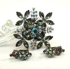 Vintage Stunning LARGE Floral Rhinestone by VintageCreekside, $48.00