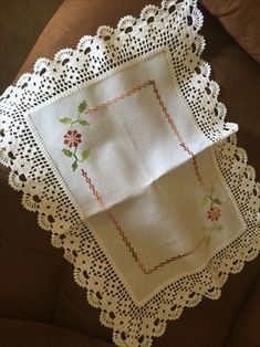 Alinti Handmade Crochet Cotton Lace Table Runner And Dresser Sca. Crochet Fabric, Crochet Tablecloth, Crochet Doilies, Hand Crochet, Crochet Lace, Filet Crochet, Crochet Borders, Crochet Squares, Crochet Patterns