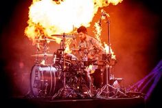 Andy Hurley: the drummer on fire