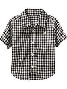 Short-Sleeve Gingham Shirts for Baby | Old Navy