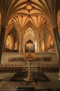 Wells Cathedral Interior, Somerset, England, built in 1176-1490