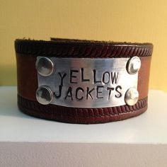 Custom Leather Cuffs by TeaBags And Gardenias - Michelle Saxon