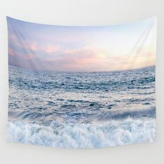 Pastel Ocean sunset Wall Tapestry Sunset tapestries surf decor tropical sea decor wall hanging decor - Home Page Decoration Surf, Surf Decor, Wall Decor, Tapestry Bedroom, Wall Tapestry, Coastal Style, Coastal Decor, Surfboard, Beach Shower Curtains