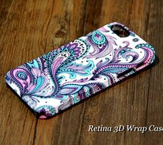 Floral iPhone 5 case. New Dual Layer 3D wrap iPhone tough case comes with a full case, composed of two...