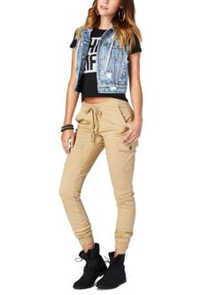 Tan joggers from Rue21