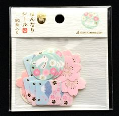 Rabbit Stickers Chiyogami Paper Stickers by FromJapanWithLove