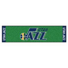 NBA Utah Jazz 1 ft. 6 in. x 6 ft. Indoor 1-Hole Golf Practice Putting Green