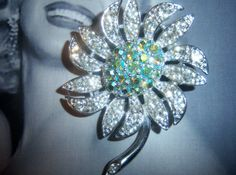 Signed Sarah Coventry Flower Brooch by YesterdayOnceAgain on Etsy, $15.00