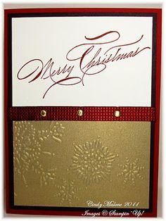 Easy, elegant Christmas Card. #stampinup #christmas