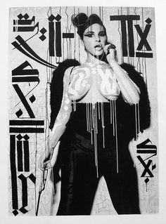 #retna #streetart. #retna http://www.widewalls.ch/artist/retna/
