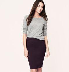 Petite Curvy Fit LOFT Custom Stretch Pencil Skirt   Loft