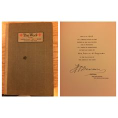 H.P. Davidson: The Work of the American Red Cross During the War (#4115). Purchased pre-signed from Ebay.