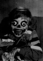 Bug eyed - crazy - clown - kid - or is it? black and white - skull nose - skeleton hand - teeth mouth - hair doo doo