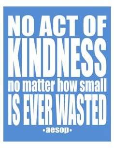 kindness is never a waste