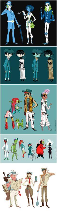 Daniel Krall - character designs {danielkrall.com}