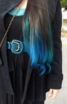 Fall Obsession: Brown Hair To Color Ombres photo Kate Cordova's photos Creative Hairstyles, Funky Hairstyles, Pretty Hairstyles, Different Hair Colors, Brown Hair Colors, Hair Colours, Bright Hair, Dye My Hair, Mermaid Hair