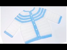 Bean Stitch Crochet Baby Cardigan Sweater or Jacket Crochet Baby Cardigan, Crochet Coat, Sweater Cardigan, Crochet For Kids, Easy Crochet, Left Handed Crochet, Step By Step Crochet, Dk Weight Yarn, Baby Month By Month