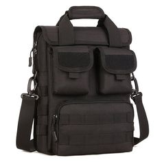 2ef99d33c8 Black Shoulder Military Army MOLLE Pack Bugout Rucksack Tactical Messenger  Bag