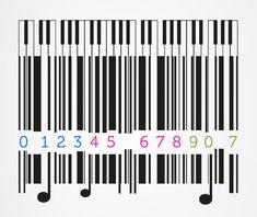 Barcode Art, Creative Art, Qr Codes, Black And White, Favorite Things, Graphics, Inspiration, Artwork, Design
