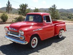 1958 Chevy Apache. One day me and hubby are going to restore an old truck like this.