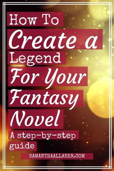 Master the power of traditional storytelling and learn how to create a magical and impactful legend for your fantasy novel using this step-by-step guide. Creative Writing Tips, Book Writing Tips, Writing Resources, Writing Help, Writing Prompts, Start Writing, Writing Jobs, Writing Poetry, Blog Writing