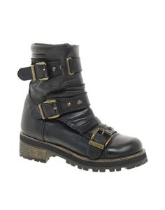 REVIVE RING MASTER Leather Biker Boots