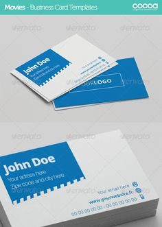 Corporate Movie - Business Card - AI / EPS FORMAT