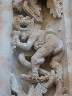 Dragon eating an ice-cream on the Salamanca's cathedral | Flickr - Photo Sharing!