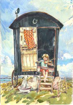 Shepherd's Hut by Claire Fletcher