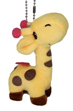 Lucore Happy Giraffe Plush Stuffed Animal Keychain - Hanging Toy Doll, Lucky Charm & Ornament (Yellow) ** LEARN MORE @ http://www.zeldarecommend.com/anime/10032/?446