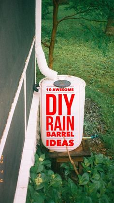 10 Easy tips and tricks for building your own rain barrel.  DIY rain barrels for your garden.