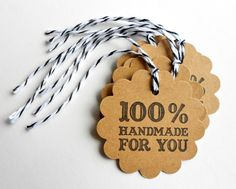 Perfect tags for packaging handmade gifts
