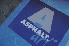 With Asphalt Art, you can apply your floor graphic to all types of surfaces, including concrete.
