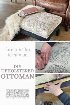 Refinished Furniture, Furniture Redo, Painting Furniture, Upcycled Furniture, Diy Home Accessories, Iron Orchid Designs, Image Transfers, Fabric Stamping, Building Furniture