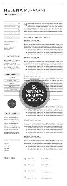 Resume Template #cleanresume #minimaltemplate #minimalresume