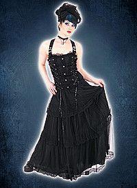 Aderlass Lolita Robe longue Black Denim