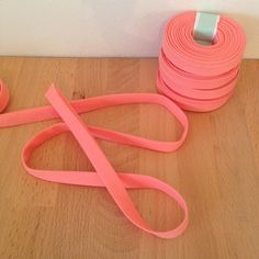 1/2 double-fold cotton bias tape in solid peach by SoBiased
