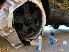 Instructions on painting stock rims.
