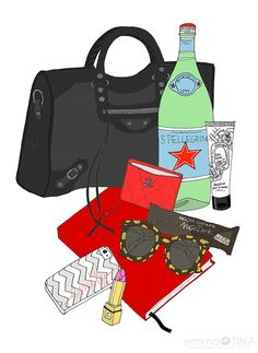 EmmaKisstina Illustrations by Kristina Hultkrantz: Blogger What's in my Bag: Emily of The Locust of Style