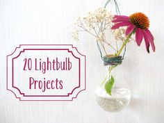 Add some greenery to your home and decorate for Easter using old lightbulbs.