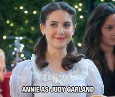 Annie as Judy Garland