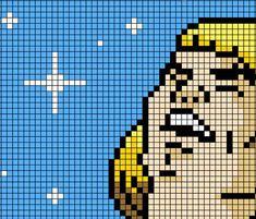 He-Man Sings Pixel Pattern Cross Stitch Perler Beads | Etsy Pixel Art Templates, Perler Bead Templates, Perler Patterns, Perler Beads, Perler Bead Art, Easy Pixel Art, Pixel Art Grid, Minecraft Pixel Art, Minecraft Houses