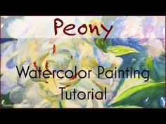 White peonies are one of my favorite flowers to paint! This watercolor painting tutorial takes you step by step through painting a peony from my garden. Watercolor Portrait Tutorial, Watercolor Video, Watercolour Tutorials, Watercolor Drawing, Watercolor Peony, Watercolor Techniques, Watercolor Paintings, Watercolors, Art Techniques
