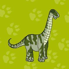 Kinderkaarten - Brontosaurus, verkrijgbaar bij #kaartje2go voor €1,79
