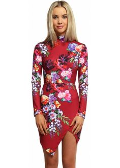 A perfect addition to your party wear for adding colour and floral prints the Ginger Fizz Autumn Blaze dress Ginger Fizz, Designer Party Dresses, Party Wear, Floral Prints, Mini Skirts, High Neck Dress, Glamour, Autumn, Chic