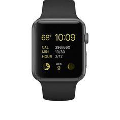 Apple Watch Sport, Space Grey Aluminum Case/Black Band, 42mm