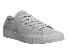 Buy Grey Mono Exclusive Converse All Star Low Leather from OFFICE.co.uk.